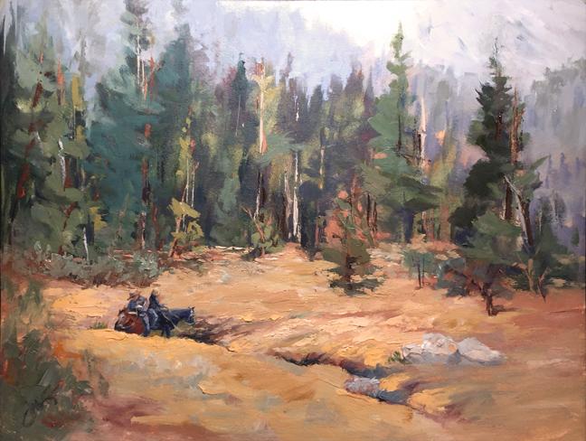 Oil Painting Elizabeth Lake Trail