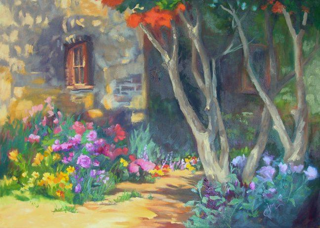 Cardella Gardens Original Oil Painting by Jeri McDonald