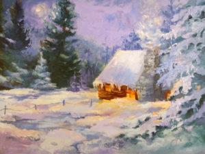 Wawona Snowy Cabin